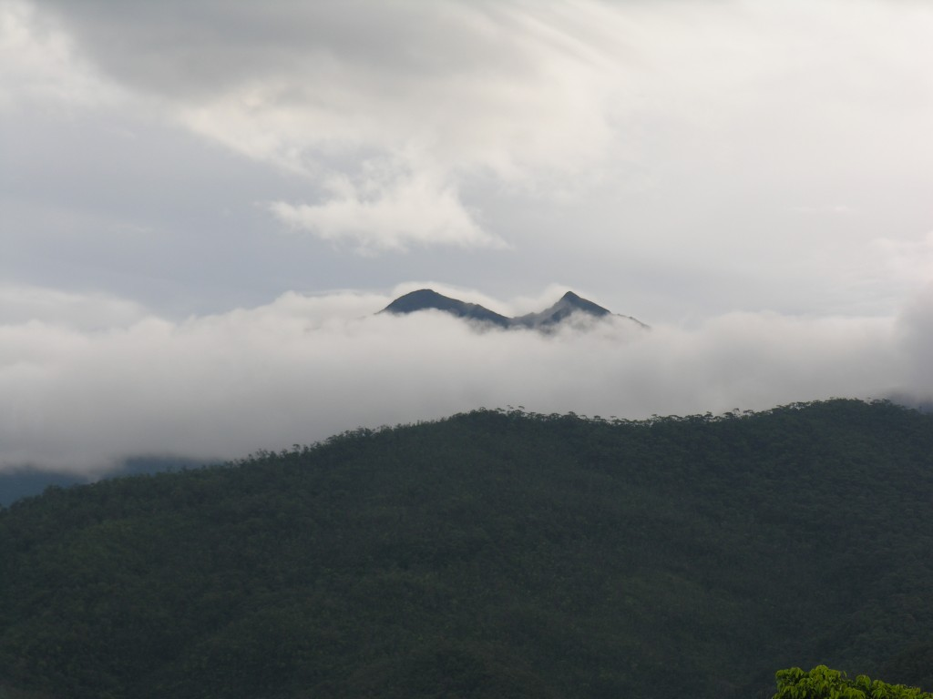 Our first glimpse of Mount Victoria from the hunters' homestead