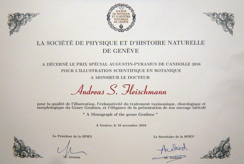 Société de Physique et d'Histoire Naturelle diplomas